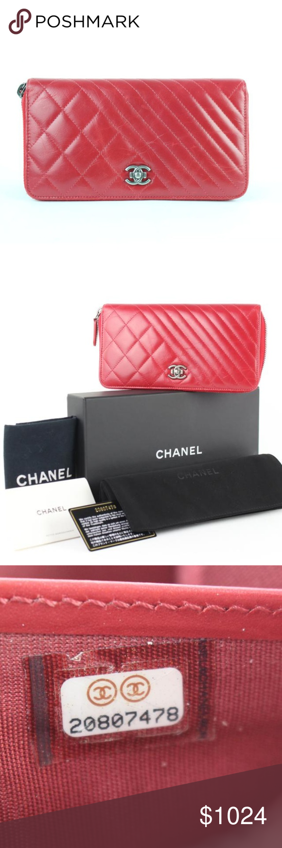 ef616b35c28b Chanel Boy Zip Around Gusset Wallet 9CE0102 Date Code/Serial Number:  20807478 Made In: Italy Measurements: Length: 7.5
