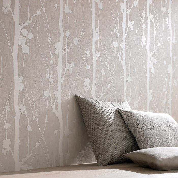 Solitude Beige Floral Wallpaper   Forest Wall Coverings By Graham Brown  Schlafzimmer Tapete,