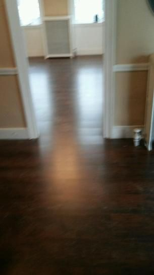 Trafficmaster Dark Brown Hickory 7 Mm Thick X 8 03 In Wide X 47 64 In Length Laminate Flooring 23 91 Sq Ft Case 368 Flooring Laminate Flooring Laminate