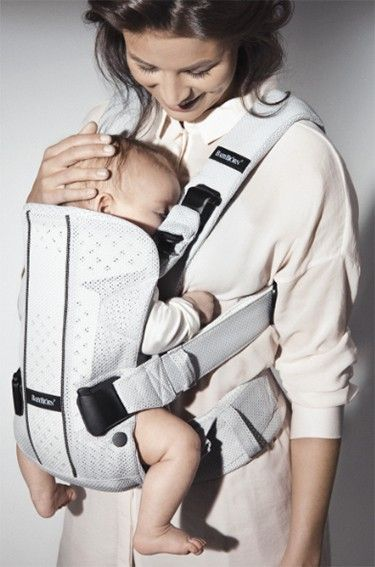 Baby Bjorn One Carrier Air Mesh Silver Carriers Baby Bunting