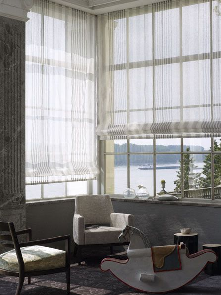 sheer blinds roman shades pinte. Black Bedroom Furniture Sets. Home Design Ideas