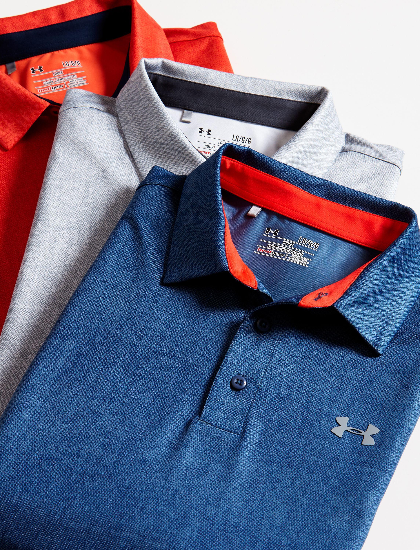 db1cbf153d Under Armour Playoff Tweed Polo | Golf Galaxy | Gear n Goods | Mens ...