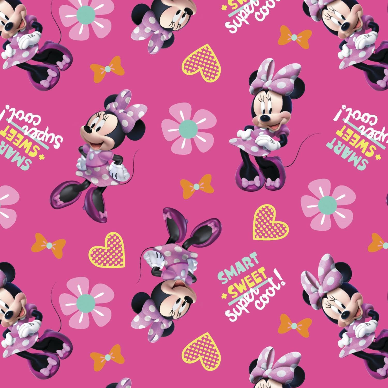 Smart Sweet Super Cool Minnie Mouse Mickey And Chubby Daisy Tsum Custom Phone Case Bumber Pink