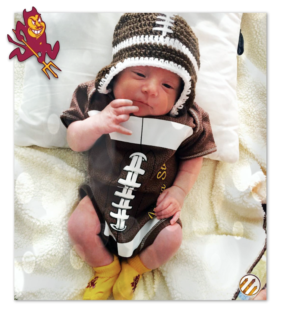 DieHard Sun Devil in training #LittleForksUp #SunDevils #ArizonaState