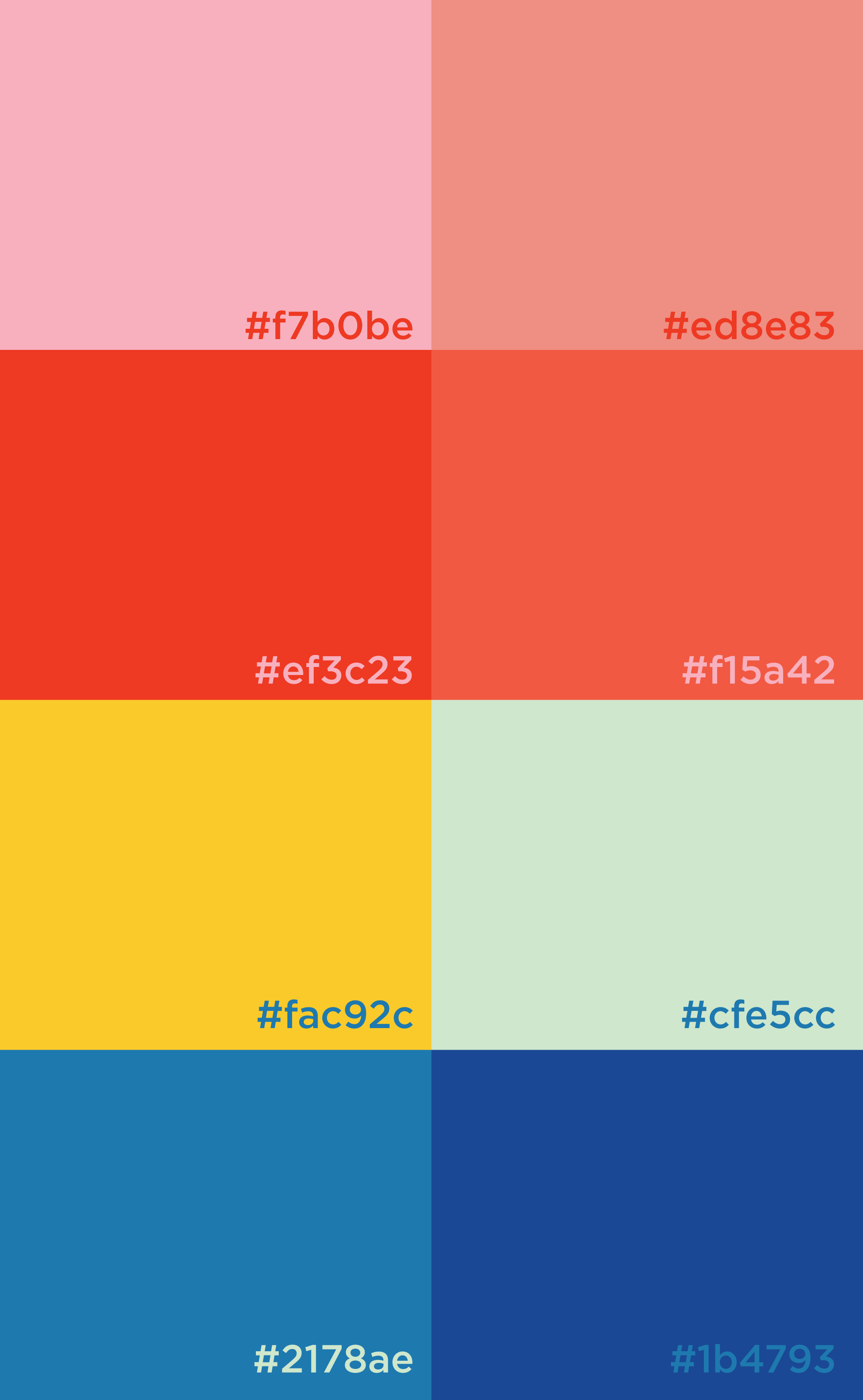 Brand Color Palette For Fun Energentic Bright Punchy Brand