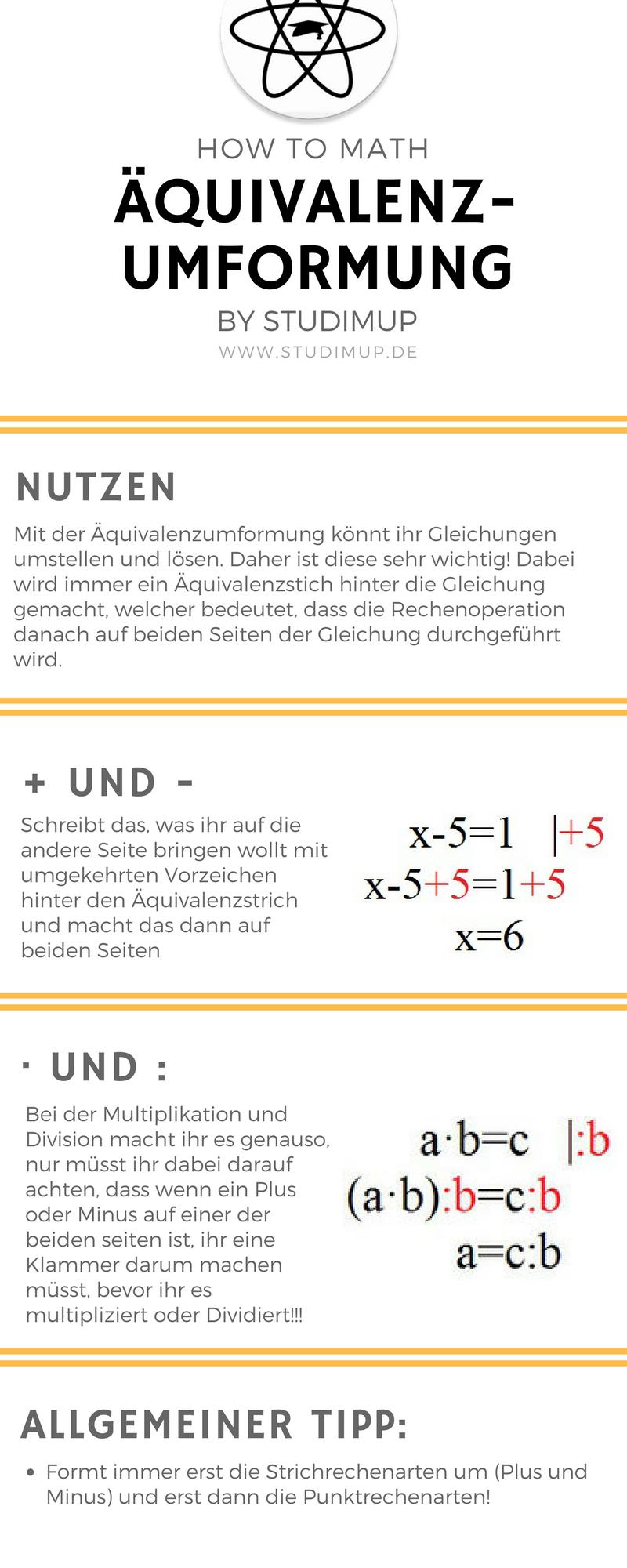 Die Äquivalenzumformung leicht erklärt und veranschaulicht. Mathe ...