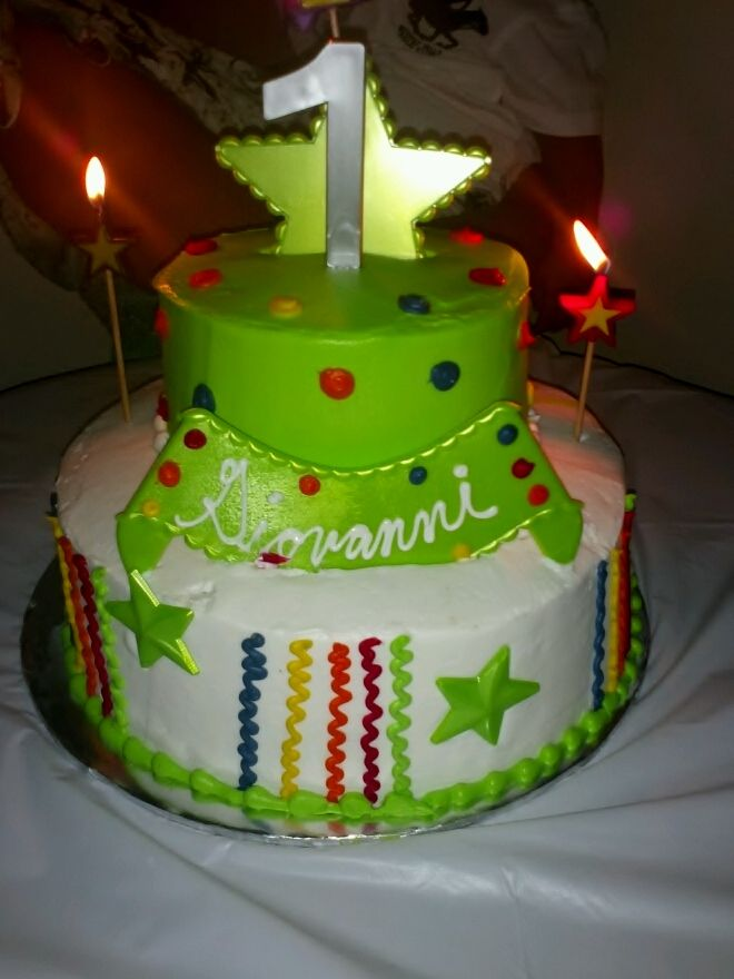 My Nephew 1st B Day Cake Another Cake From Walmart Cakes