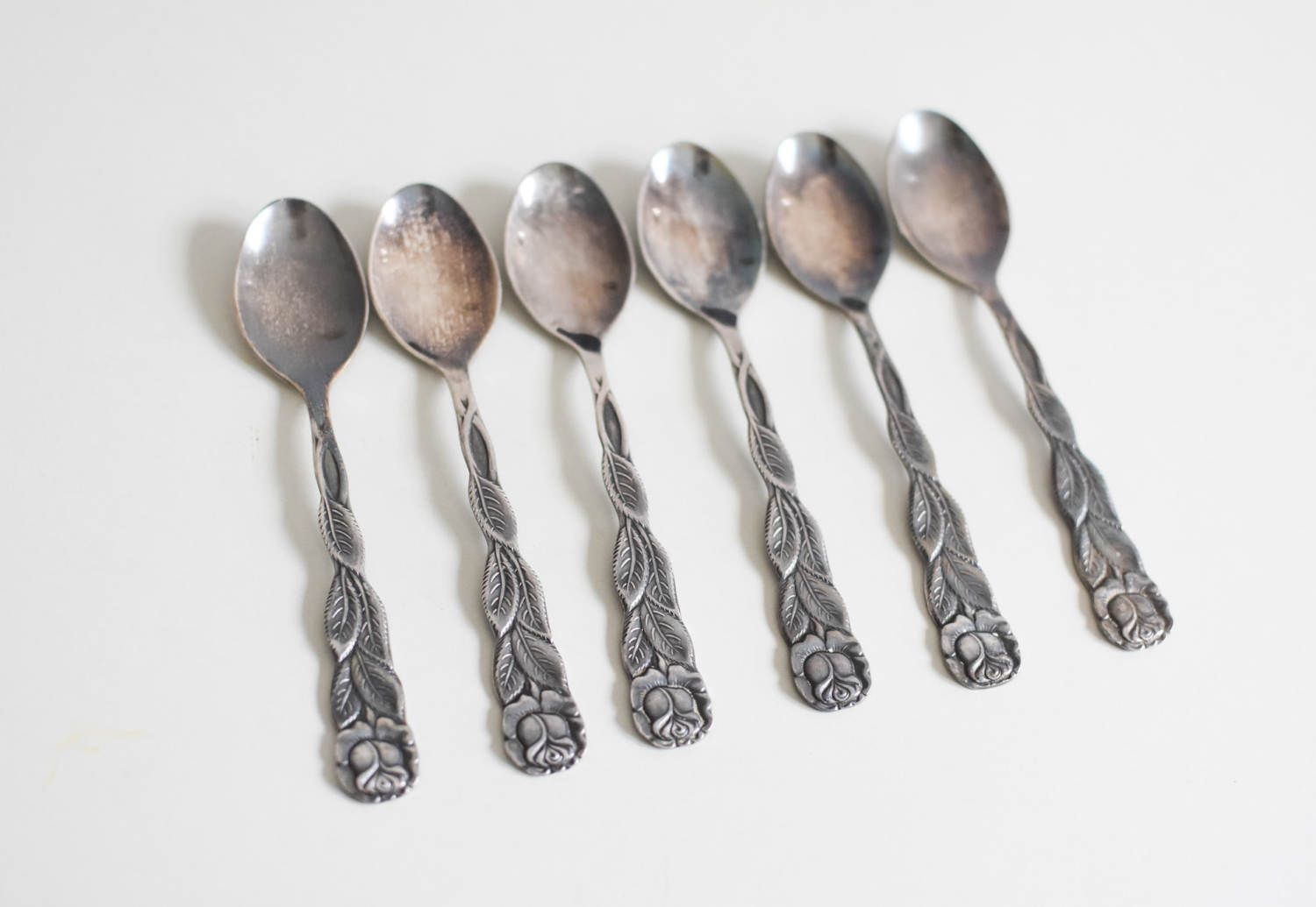 Kleine Löffel Hildesheimer Rose Spoons Coffee Spoons Rose Decor Silver Plated