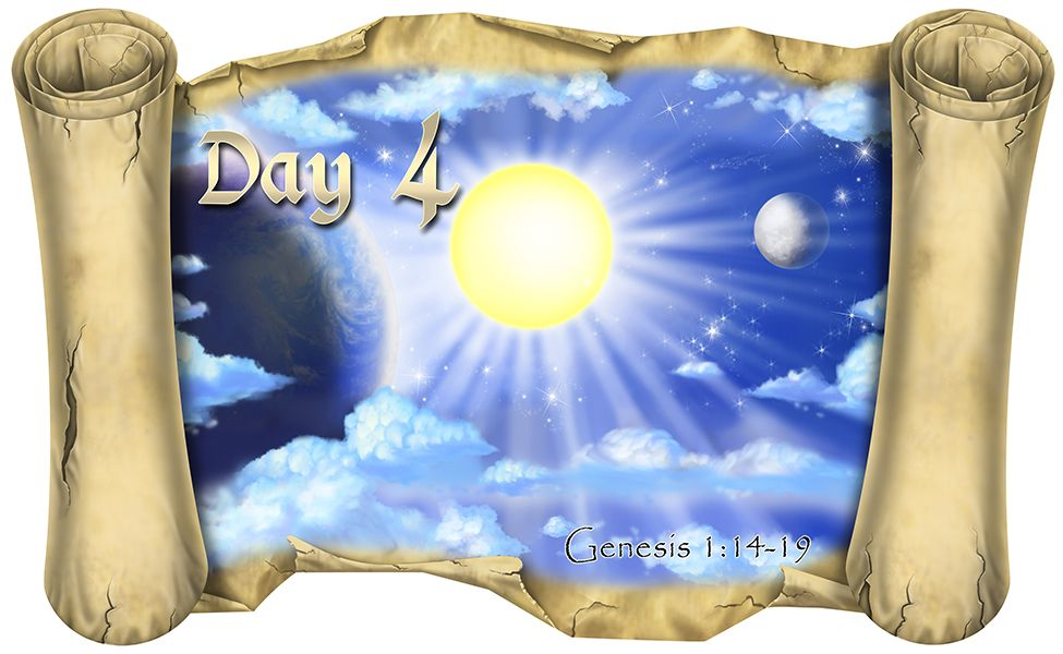 Creation Story Day 4 Version 2 Bible Scroll Creation Story Creation Bible Creation Story