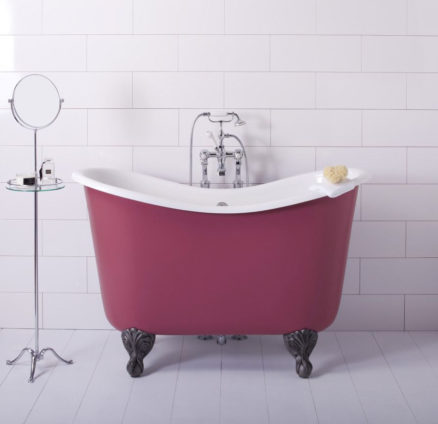 Tubby Too Deep Bath (Red) The Albion Bath Company | bedroom/bathroom ...