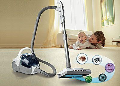 CleanWave Sanitizing Bagless Vacuum - WANT!