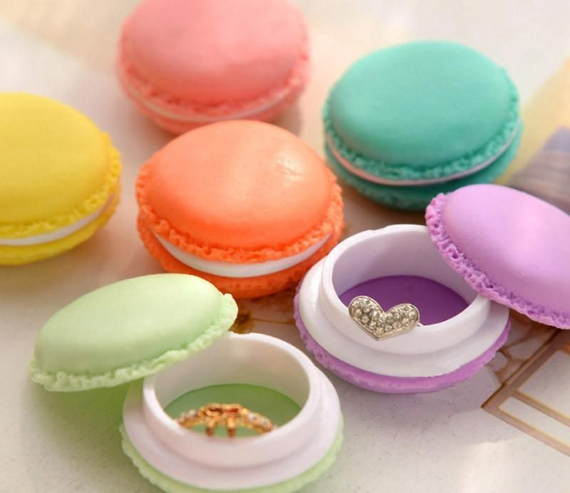 6 PC Mini Earphone SD Card Macarons Bag Storage Jewelry Box Case Carrying Pouch