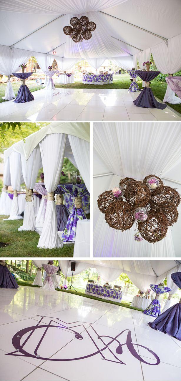 Lush Purple Spring Backyard Wedding in Tennessee enchanted