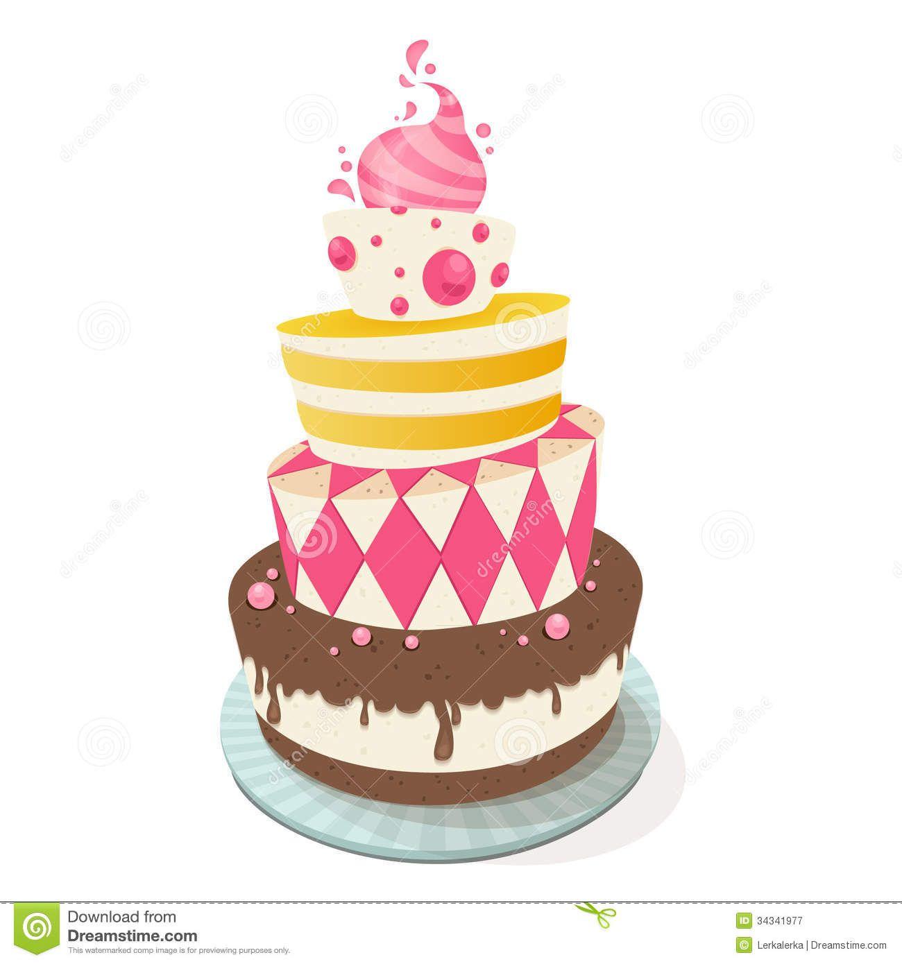 Happy Birthday Weird Illustration