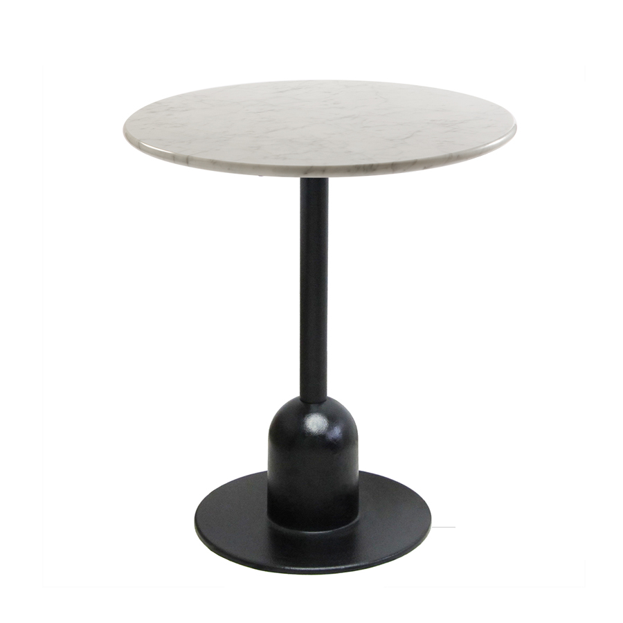 Typha 45  Dining table with round black painted iron base and column Base dimensions Ø450 mm Max top size Ø1000mm or 900x900mm Also available in selected RA...