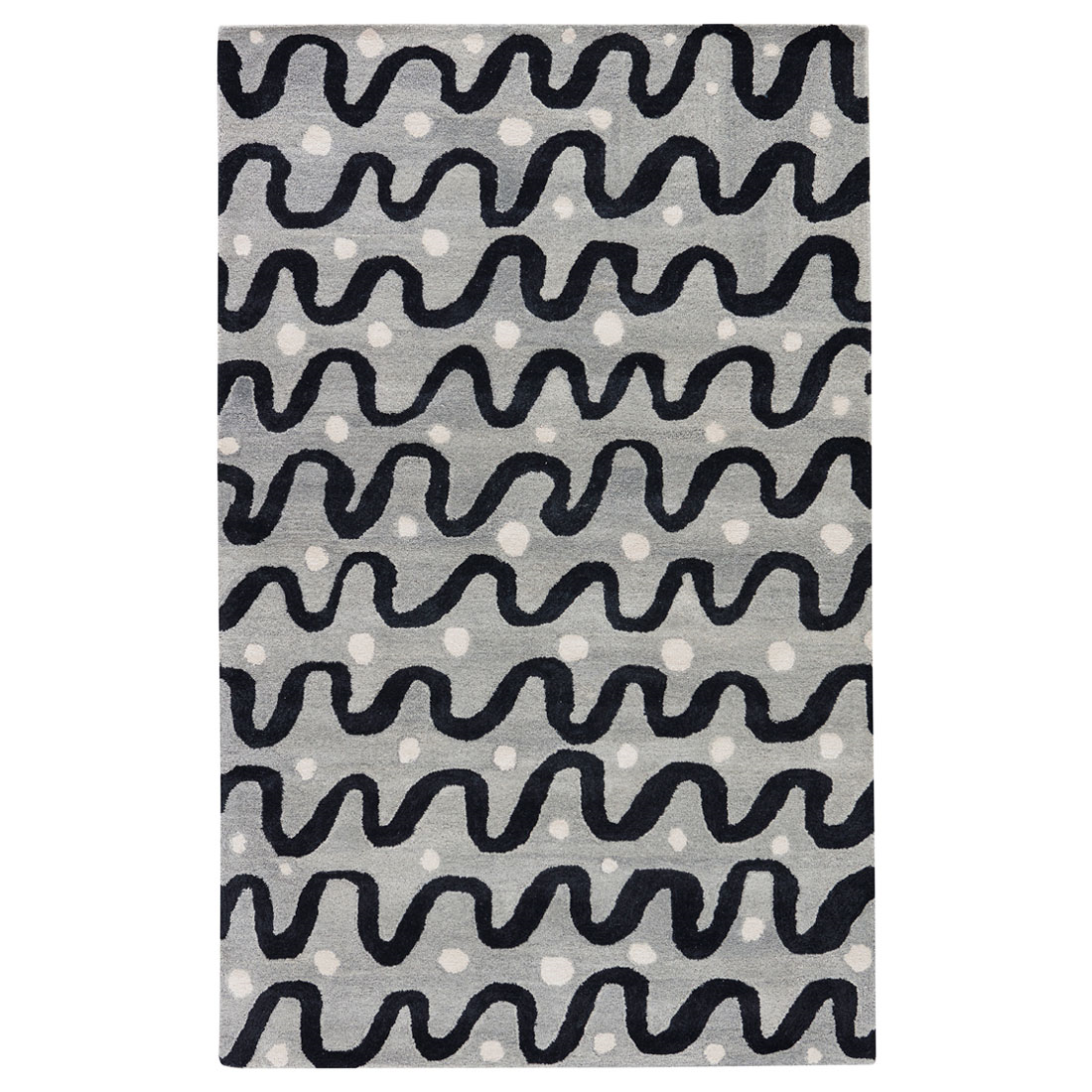 Kate Spade New York by Jaipur Gramercy Waves Heather Grey Hand Tufted Rug #laylagrayce