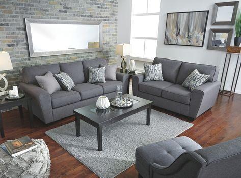 Calion Sofa Gunmetal Grey Couch Living Room Living