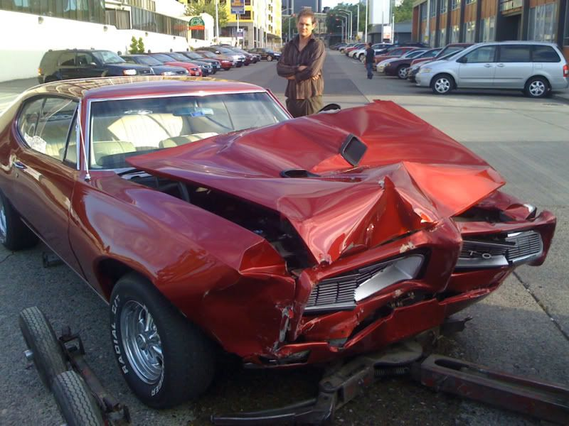 muscle car crash wrecked musclecars pictures page 2 chevelle tech