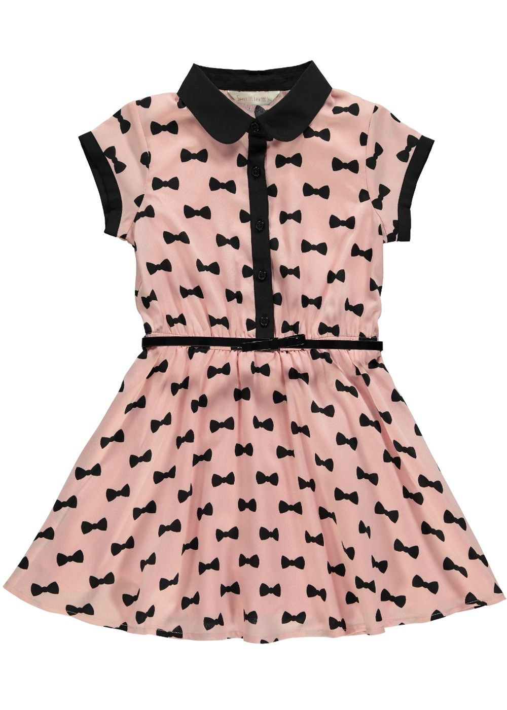 Girls Bow Print Dress - Matalan | Kids | Pinterest | Printing, Girls ...