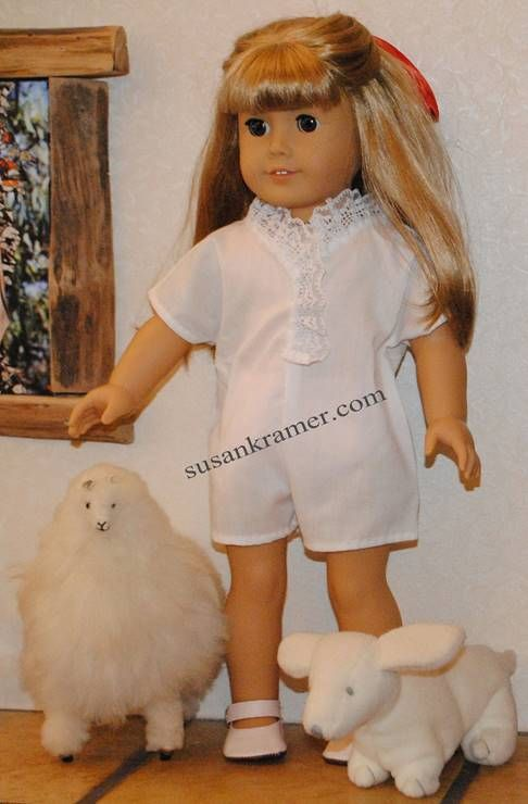 Short Sleeve Ruffled Bodysuit and Skirt Patterns to Fit American Girl and Other 18 Inch Dolls #dollunderware