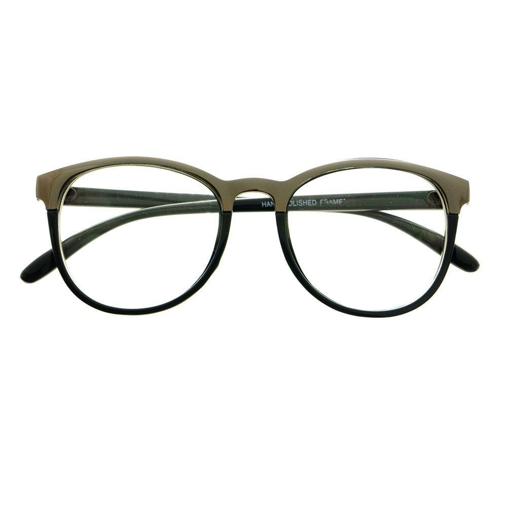 womens mens fashion metal top clear lens eyeglasses frames