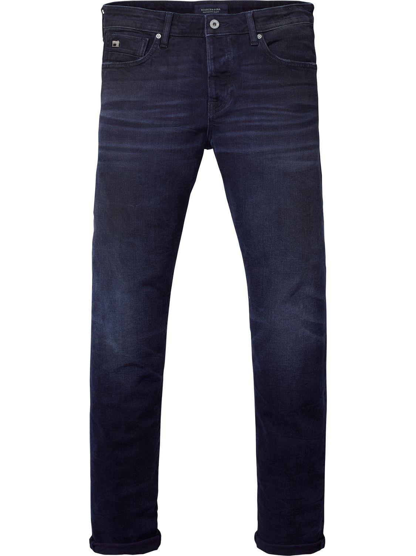 Ralston Black And Blue Regular Slim Fit