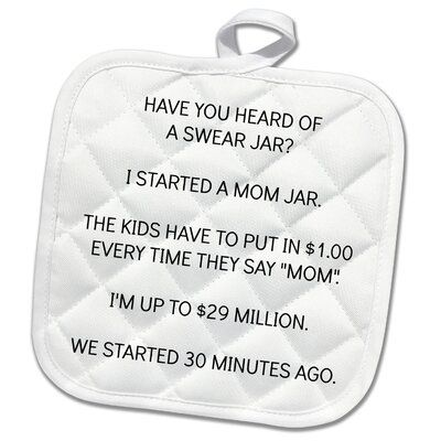 3dRose 3dRose Mom Jar Potholder