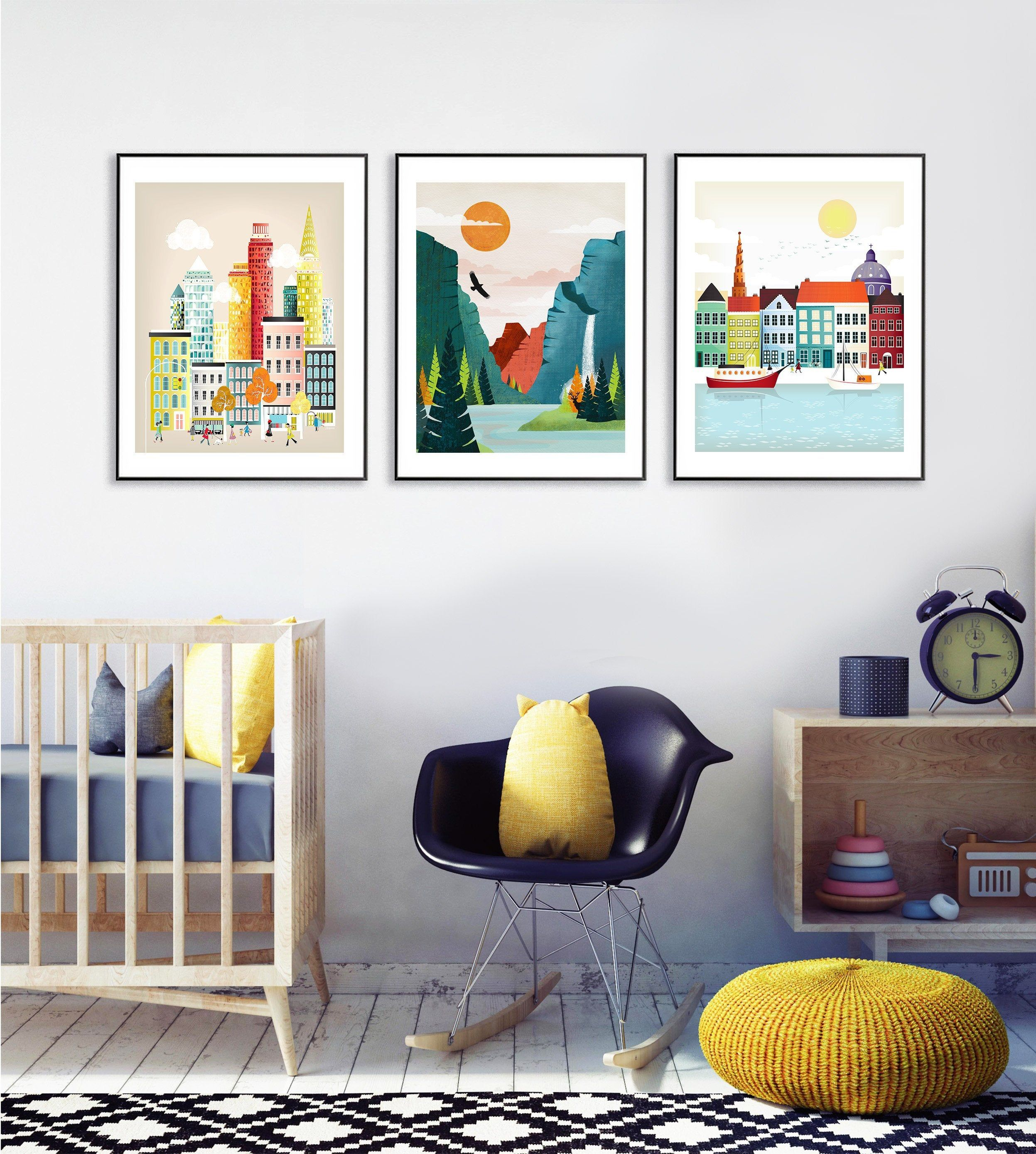 Set Of 3 Prints Choose Any 3 Travel Posters Destination Art Large Wall Art Travel Gallery Wall Gallery Wall Travel Posters