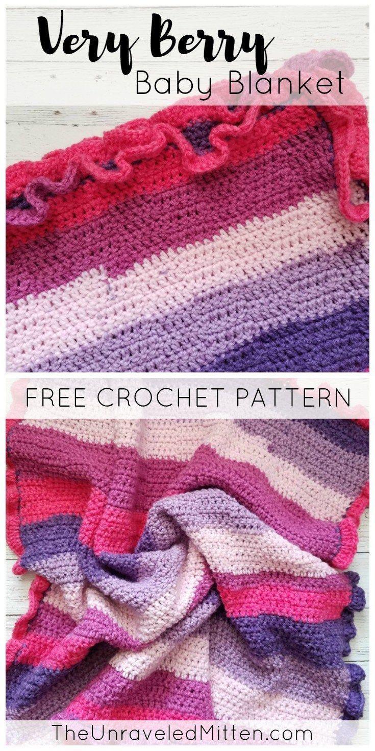 Very Berry Crochet Baby Blanket