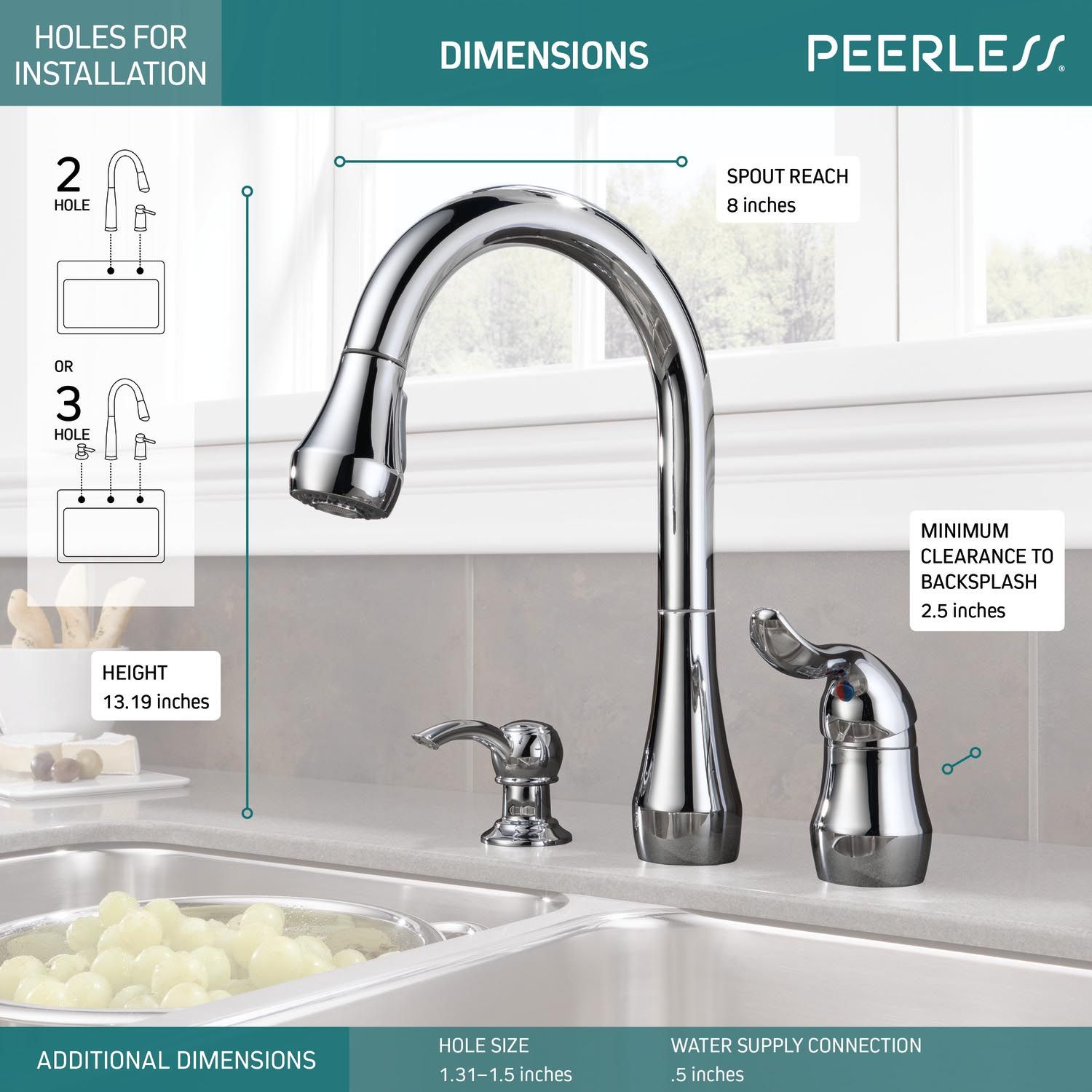 Peerless Faucet P188102lf Sd Single Handle Kitchen Pull Down With