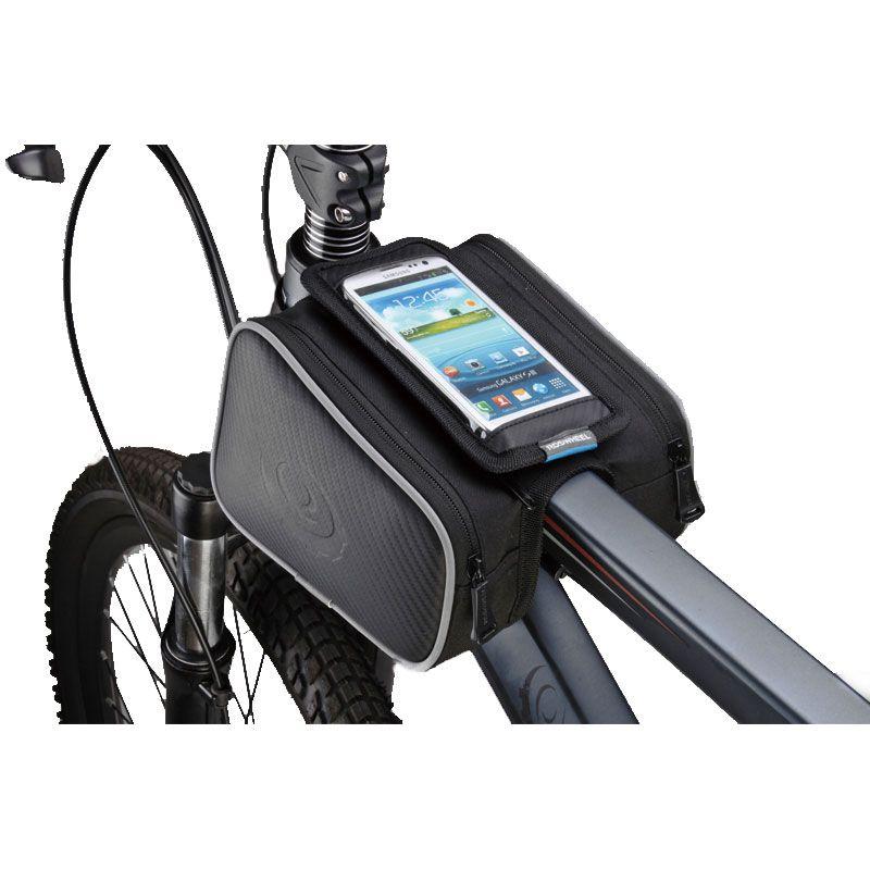"Ibera Bicycle Top Tube Phone Bag for 5/"" 6/"" Screen Size Bike Frame Strap Att..."