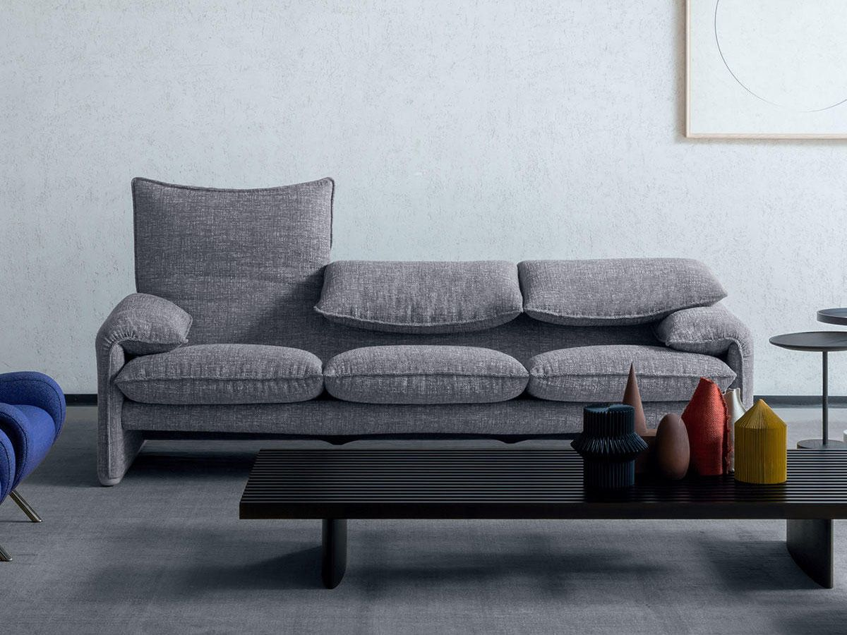 Maralunga Sessel Cassina 675 Maralunga 40 Three Seater Sofa In 2019 Design