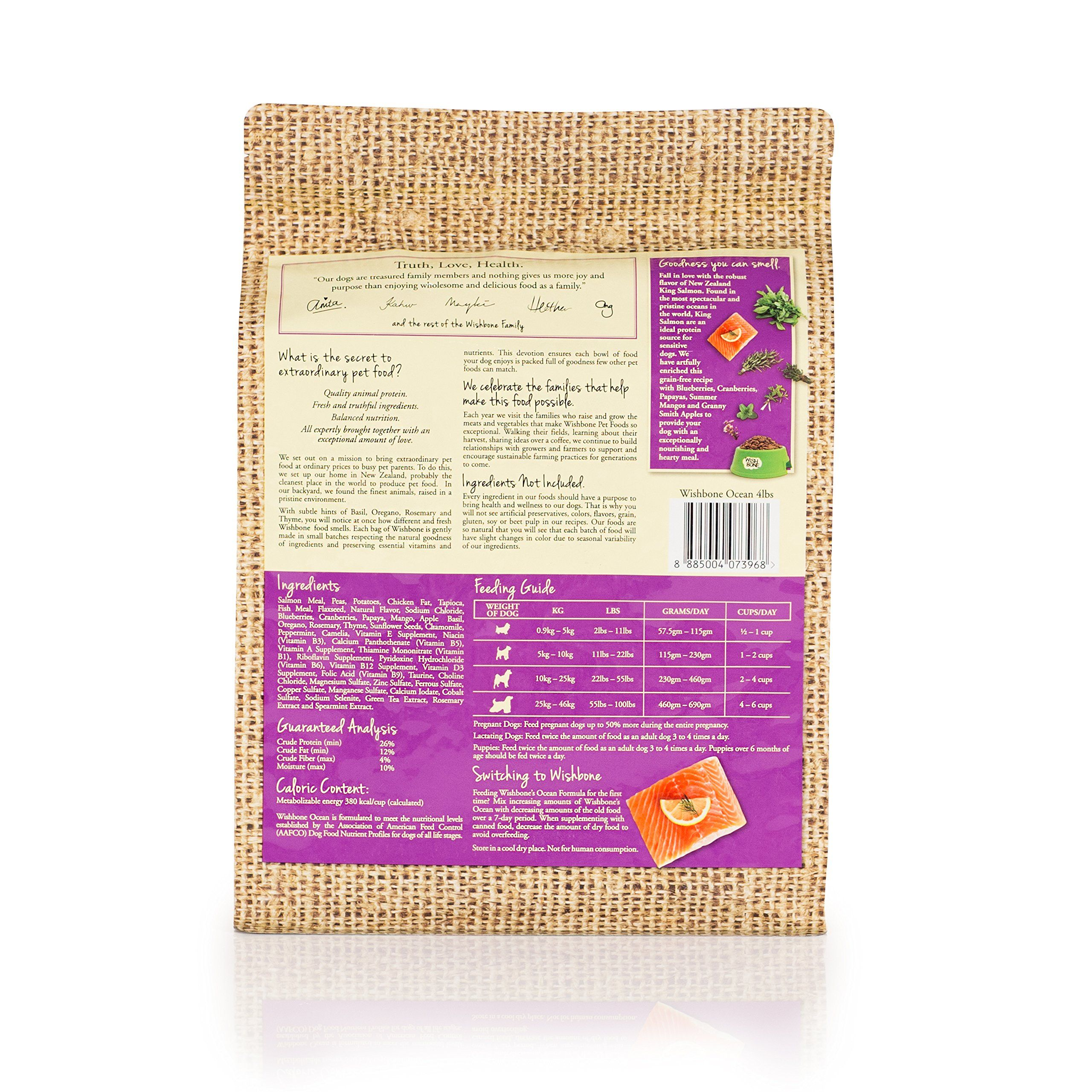 Wishbone Pet Foods Grain Free Gluten Free Natural Dry Dog Food