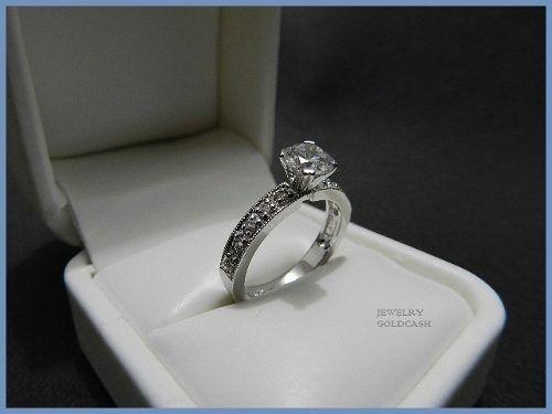 3c0a1dad2bdd elegante anillo de compromiso oro blanco plata envio gratis