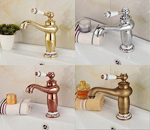 Scgeha アンティーク 蛇口 シングルレバー 混合水栓 水道 ホース ブロンズ 蛇口 水栓 トイレ インテリア
