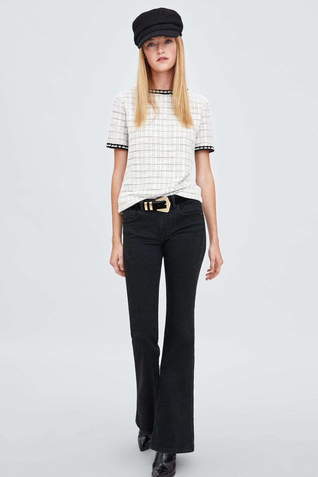 9d3bdbc290 Image 1 of TEXTURED TOP WITH FAUX PEARL BAND from Zara | New Cart ...