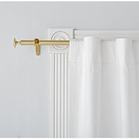 Single Gold Curtain Rod Gold Curtain Rods Gold Curtains