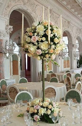 Fl Arrangement On Candelabra Google Search Wedding Reception Centerpiecesfl
