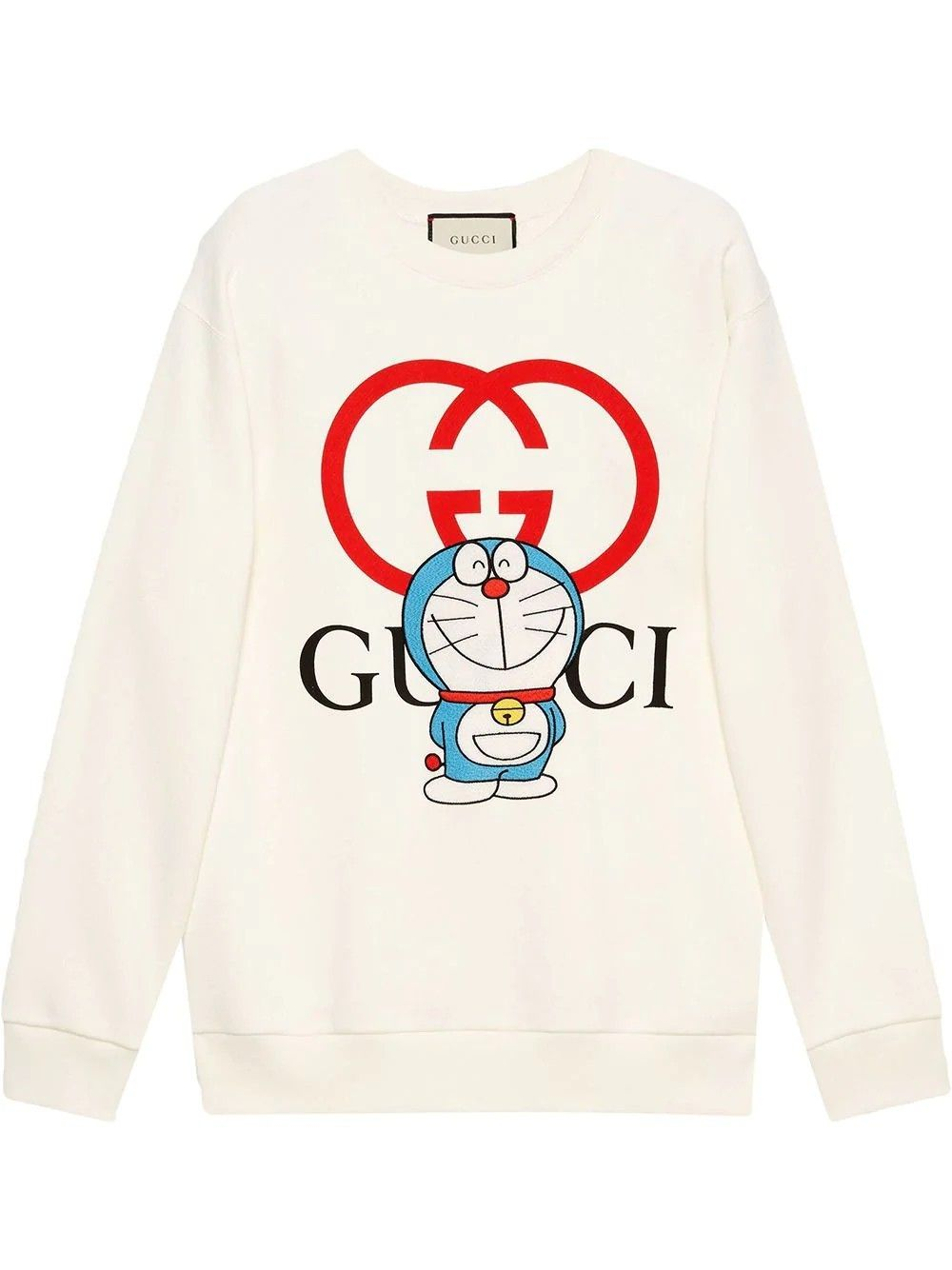 Gucci X Doraemon Crew Neck Sweatshirt In 2021 Sweatshirts Crew Neck Sweatshirt White Sweatshirt [ 1334 x 1000 Pixel ]