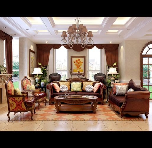 Luxurious Living Room Curtains