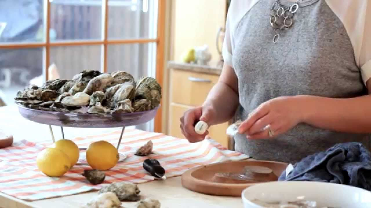 How to shuck an oyster with in a half shell youtube
