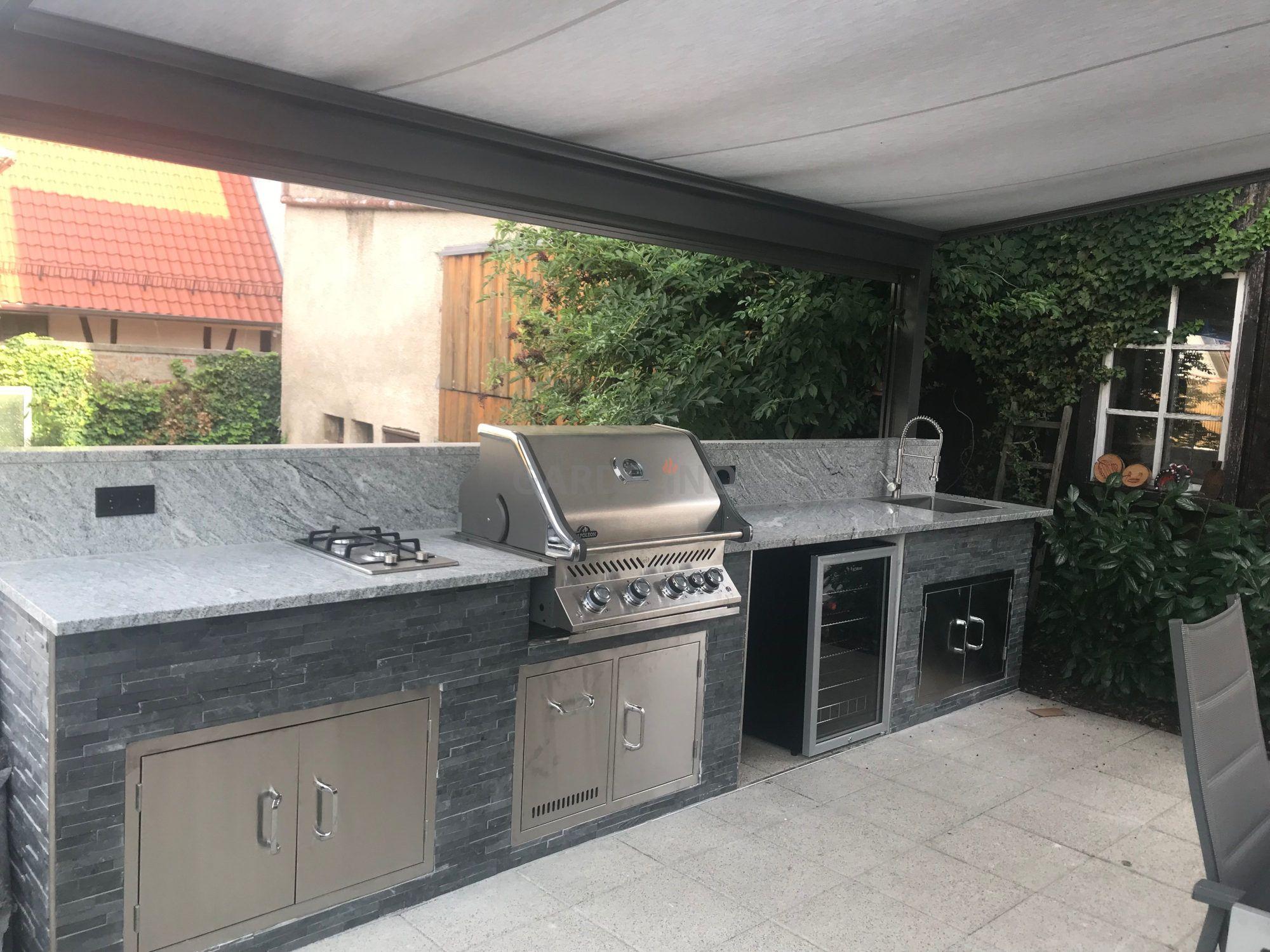 Stein Aussenkuche Auf Terrasse Outdoor Kuche Aussenkuche Terassenideen