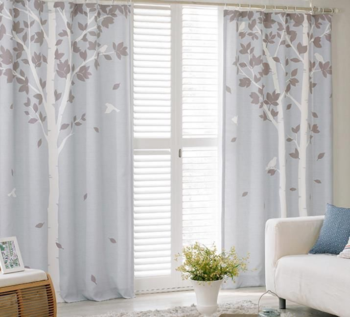 Blue Tree Print Poly/Cotton Blend Country Bedroom Curtains  #CurtainsIdeasCreative #CurtainsIdeasForGrayWalls Boys Bedroom