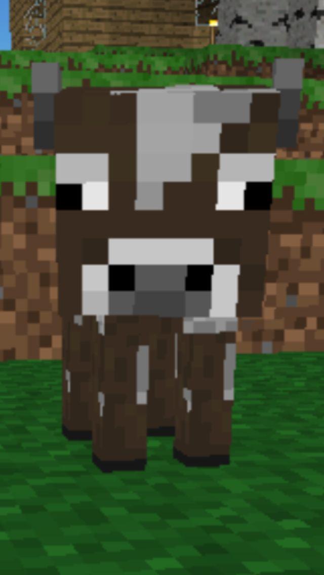Baby Minecraft Cow Minecraft Wallpaper Cow Wallpaper Minecraft