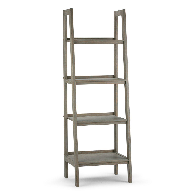Sawhorse Ladder Shelf Wood Ladder Shelf Ladder Bookcase Ladder Shelf
