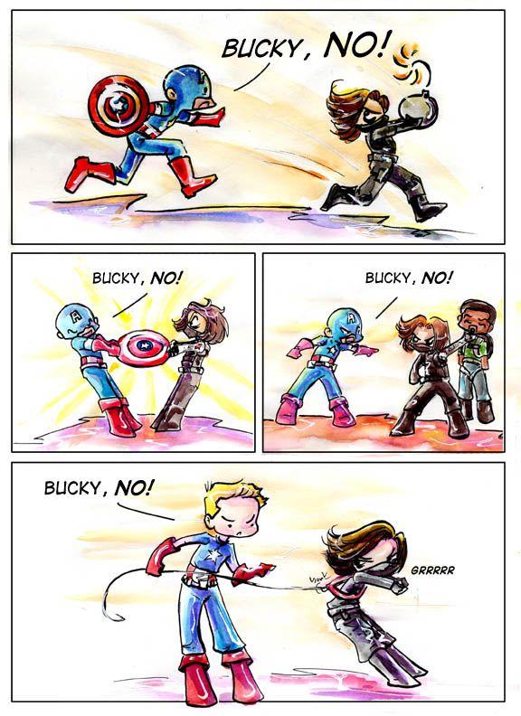 Bucky NO! by GalacticDustBunnies on DeviantArt