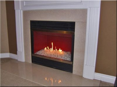 Converting Gas Logs To Fireglass Glass Fireplace Gas Fireplace Makeover Fire Glass Fireplace