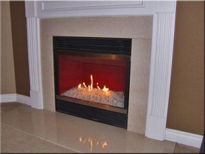 Converting Gas Logs To Fireglass Glass Fireplace Fire Glass Fireplace Gas Fireplace Makeover