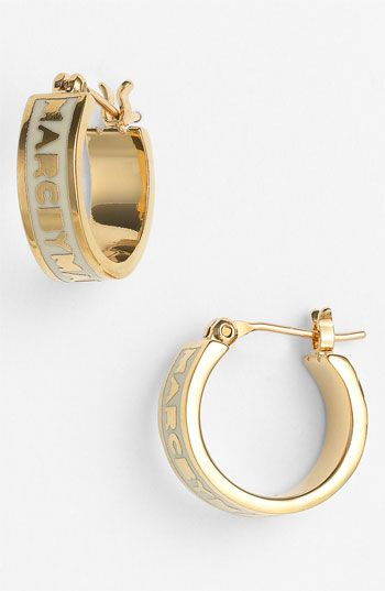 Cream Gold MARC BY MARC JACOBS Classic Marc Hoop Earrings