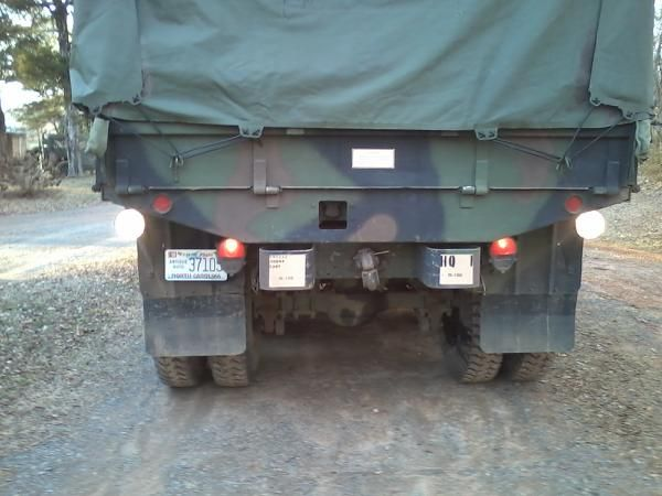 Rear of the truck. Square in the bed is for the military